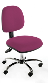CMIMP Medium Back Operator Chair - Chrome Base