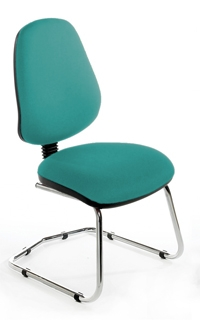 CHIMPC High Back Cantilever Chair - Chrome Base