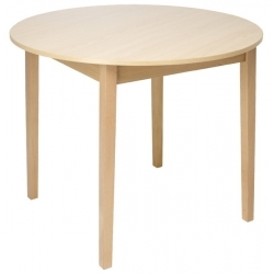 Round Tapered Leg Dining Table