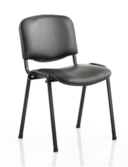 Vinyl Stacking Chair - Black Frame
