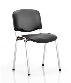 Vinyl Stacking Chair - Chrome Frame