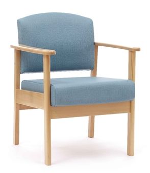Cambridge Patient Low Back Arm Chair - NHS Specification
