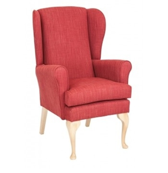 Monty Fully Upholstered High Back Wing Chair