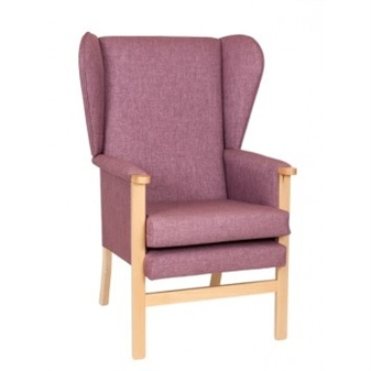 Ava High Back Fully Upholstered Lounge Chair