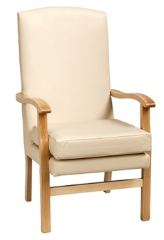 Fast Delivery Bella High Back Chair Cream Vinyl