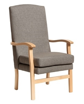 Fast Delivery Bella High Back Chair in Steel Fabric