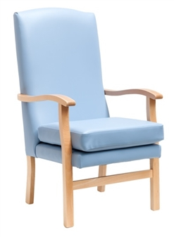 Fast Delivery Bella High Back Chair Sky Blue Vinyl