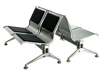 Voyage Aluminium Beam Seating With Upholstered Seats & Backs
