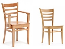 St Neots Polished Seat Dining Chairs