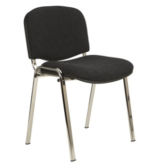 Ecton Stacking Chair With Arms Chrome Frame