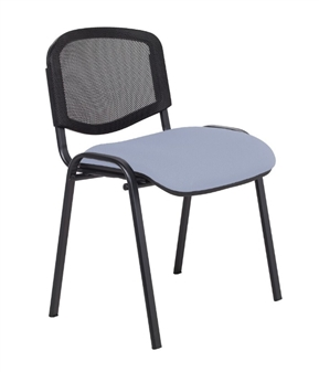 F1B Mesh Back Stacking Chair - Black Frame