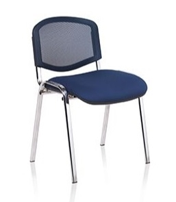 F1C Mesh Back Stacking Chair - Chrome Frame