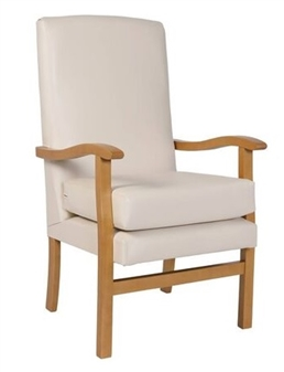 Fast Delivery Jubilee High Back Chair Cream Vinyl