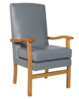 Fast Delivery Jubilee High Back Chair Pewter Vinyl