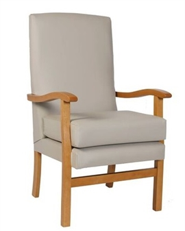 Fast Delivery Jubilee High Back Chair Putty Vinyl