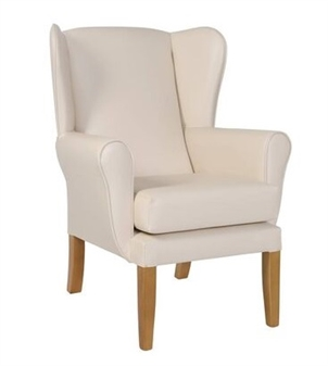 Fast Delivery York  Wing Chair Cream Vinyl