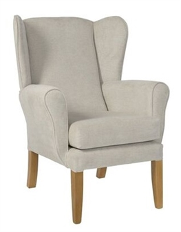 Fast Delivery York Wing Chair Stone Fabric