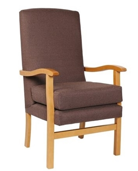 Fast Delivery Jubilee High Back Chair Chocolate Fabric