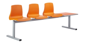 NP Poly Beam Seating With Table