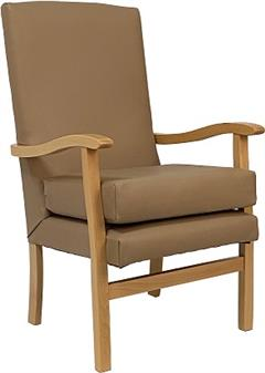 Fast Delivery Jubilee High Back Chair In Panaz Chai Vinyl