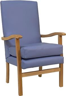 Fast Delivery Jubilee High Back Chair In Panaz Sky Vinyl