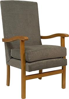 Fast Delivery Jubilee High Back Chair In Charcoal Fabric