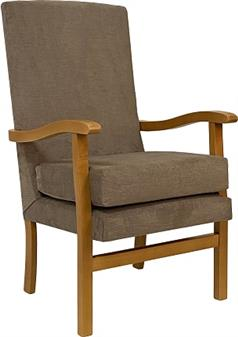 Fast Delivery Jubilee High Back Chair In Bark Fabric