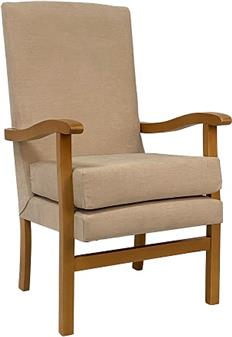 Fast Delivery Jubilee High Back Chair Beige Fabric