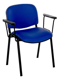 F1BARMS Stackable Chair With Arms - Black Frame