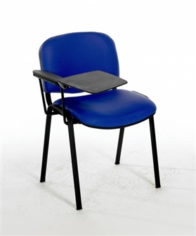 F1BT Stackable Chair - One Arm & Writing Tablet - Black Frame