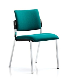 Viscount Stacking Chair - Chrome Frame