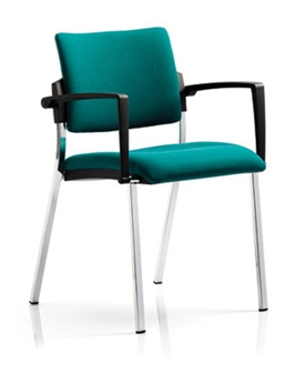 Viscount Stacking Armchair - Chrome Frame