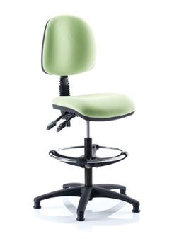 Kirby Medium Back Draughtsman Chair + Chrome Footring
