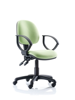 Kirby Medium Back Operator Chair With Loop Arms