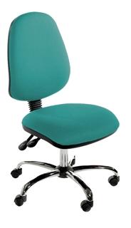 CHIMP High Back Operator Chair - Chrome Base