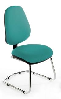 CHIMPC High Back Cantilever Chair - Chrome Base