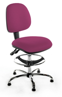 CMIMPD Medium Back Draughtsman Chair - Chrome