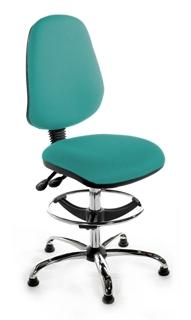 CHIMPD High Back Draughtsman Chair - Chrome