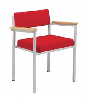 wide seat heavy duty spritz stacking armchair