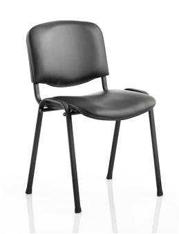 Vinyl Stacking Chair - Black Frame