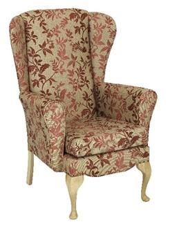 Roxy High Back Wing Chair Queen Anne Leg