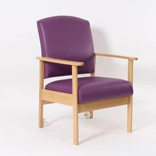 Cambridge Patient Medium Back Arm Chair Shown with Housekeeping Wheels