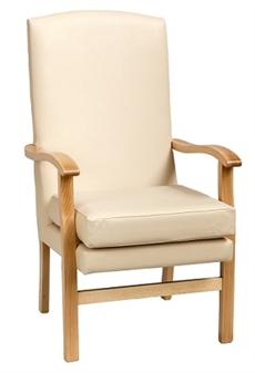 Bella High Back HC Chair Panaz Aston Cream Vinyl