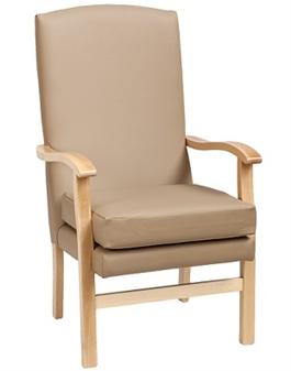 Bella High Back Chair in Ambla Richmond Truffle