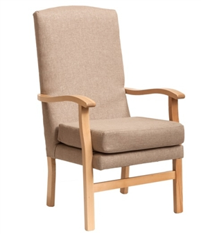 Bella High Back Chair Panaz Highland Chablis Fabric