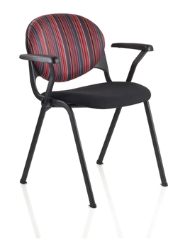 Prima 4 Leg Chair Shown With Optional Arms