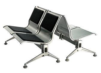2 Seater Voyage Aluminium Beam Seating With Upholstered Seats & Backs