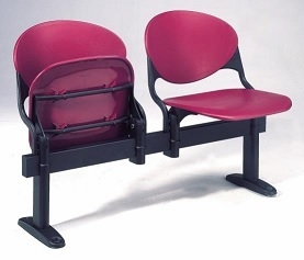 Prima Poly Tip Up Beam Seating Shown With Pink Seats - Availalbe on Request