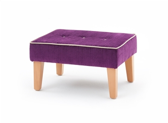 Large Button Square Leg Foot Stool