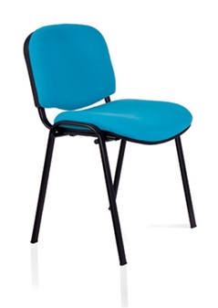 Ecton Stacking Side Chair Black Frame
